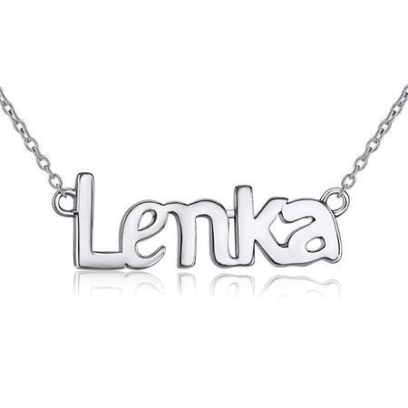 VESPER Stříbrný řetízek se jménem Lenka JJJ1866-LEN
