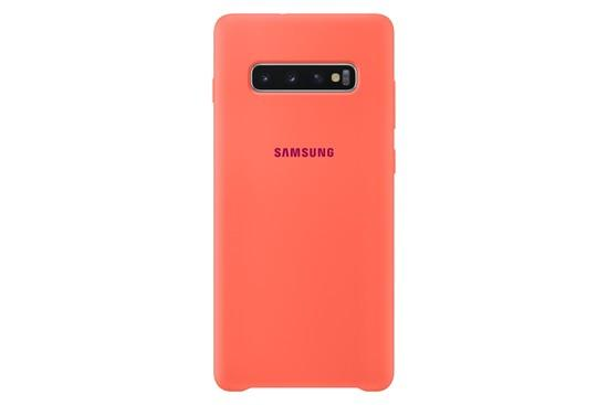 Kryt na mobil Samsung Silicon Cover pro Galaxy S10+ - Berry Pink