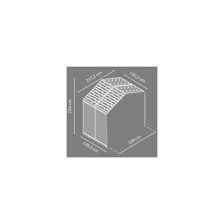 Palram Skylight 8x4 šedý rozšiřovací modul