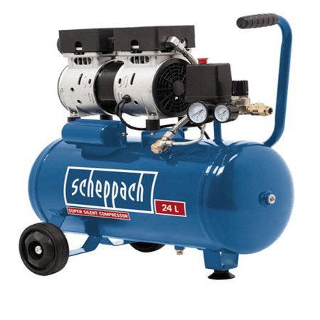 Scheppach HC 24 Si tichý bezolejový dvouválcový kompresor 8 bar se vzdušníkem 24 l