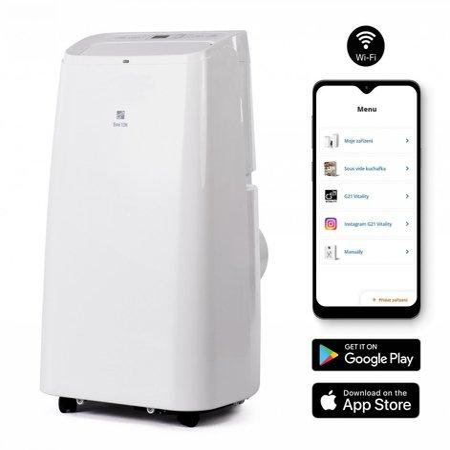 Klimatizace G21 YPS3-12H mobilní s vytápěním, WiFi, 12000BTU, odvlhčování 21,6l/24h, dálkové ovládán