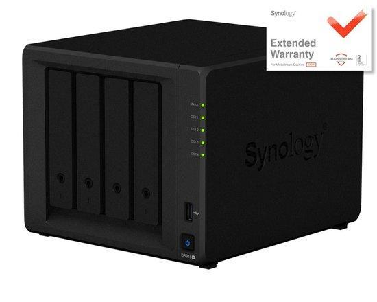 "Synology DS918+ +EW201 4x 3,5""/2,5"" SATA, 4GB DDR4, 2x USB3.0, 2x Gb LAN, DS918+ +EW201"
