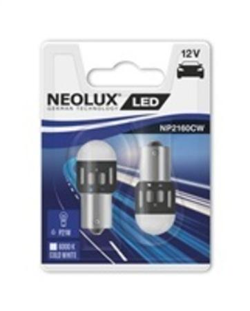 """NEOLUX autožárovka """"P21W"""" RETROFIT 12V 1,2W BA15s 6000K studená bílá (Blistr 2ks)"""