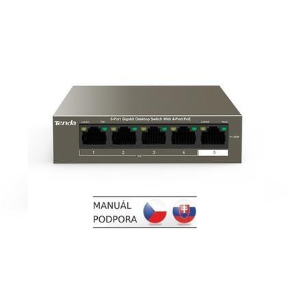 Switch Tenda TEG1105P PoE, 5 port, Gigabit, TEG1105P-4-63W
