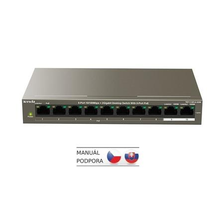 Switch Tenda TEF1110P-8-102W PoE, 10 port, Gigabit, TEF1110P-8-102W