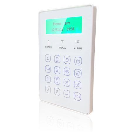 iGET Security P13 Externí bezdrátová dotyková klávesnice. LCD displej, napájení adaptérem, záložní baterie