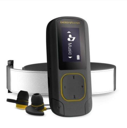 ENERGY MP3 Clip Bluetooth Sport Amber (16GB, MicroSD, FM, sluchátka, pásek na paži)