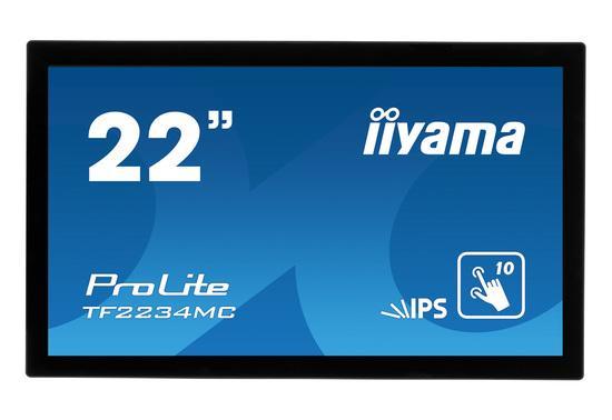 "22"" iiyama TF2234MC-B6AGB: IPS, FullHD, capacitive, 10P, 350cd/m2, VGA, DP, HDMI, černý, TF2234MC-B6AGB"