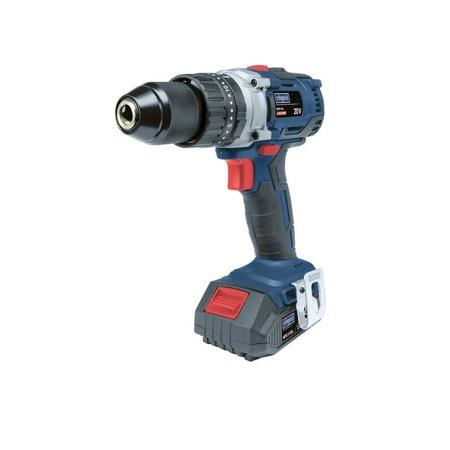 Scheppach BID60-20Li aku 20 V bezuhlíkový příklepový vrtací šroubovák + 2x baterie 2 Ah + nabíječka + kufr