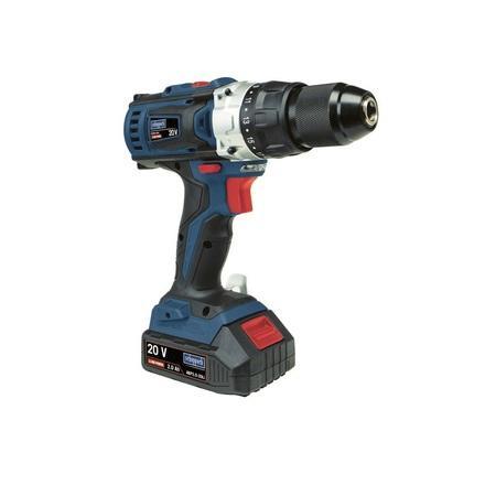 Scheppach CSD40-20Li aku 20V vrtací šroubovák + 2x baterie 2 Ah + nabíječka + kufr