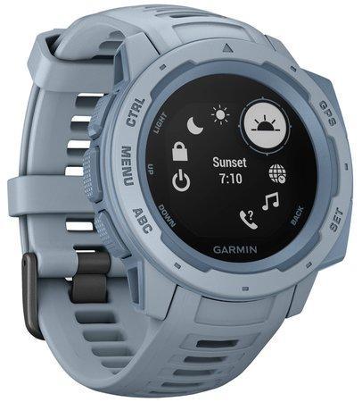 GARMIN GPS chytré hodinky Instinct Light Blue Optic