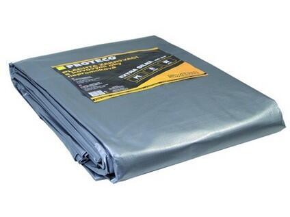 PROTECO 10.88-P150-3-5 plachta 3x5 m extra silná nepromokavá s oky šedá 160g/m2