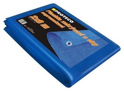 Proteco 10.88-P-3-5 plachta nepromokavá s oky 50g/m² 3x5 m modrá
