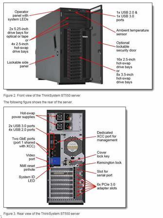 """Lenovo ThinkSystem ST550 1x Silver 4210 10C 2.2GHz 85W/1x16GB/2x 480GB PM883 SSD 2,5""""(8)/930-8i(2GB"""
