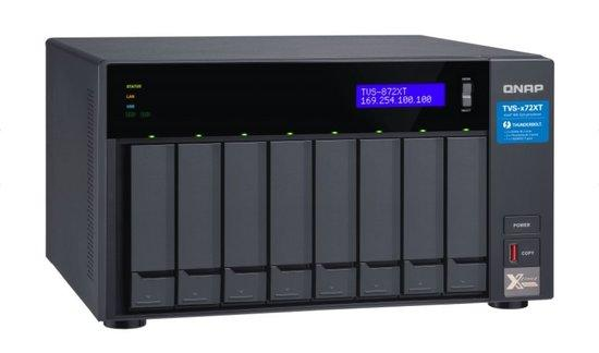 QNAP TVS-872XT-i5-16G (1,7GHz / 16GB RAM / 8xSATA/1xHDMI 2.0/2xThunderbolt™ 3/2xM.2 NVMe), TVS-872XT-i5-16G