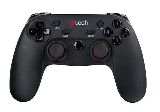 C-TECH Gamepad Lycaon pro PC/PS3/Android, 2x analog, X-input, vibrační, bezdrátový, USB