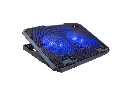 """C-TECH Chladící podložka pro ntb CLP-140, 15,6"""", 2x 140mm, 2x USB, modré podsvícení"""