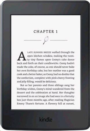 Čtečka e-knih Amazon Kindle Paperwhite 4 2018 s reklamou - černá, KIN-PW-4-8GB-SO
