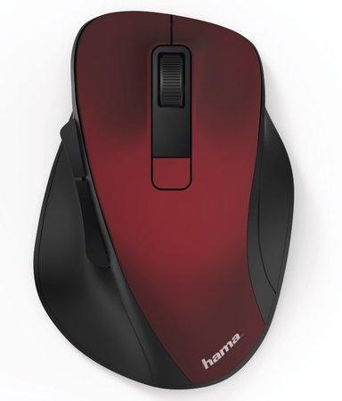 HAMA myš MW-500/ bezdrátová/ optická/ 1600 dpi/ 6 tlačítek/ USB/ červená, 182634