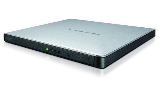 HLDS (HITACHI-LG) DVD±RW GP57ES SLIM external stříbrná USB 2.0, 8xDVD±RW, 5xDVD-RAM, silver, slim stříbrna, GP57ES40