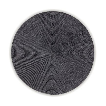 Prostírání KIMYA PP-plastik šedá H 0,2cm / Ř 38cm