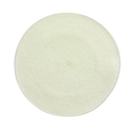 Prostírání KIMYA PP-plastik krémová H 0,2cm / Ř 38cm