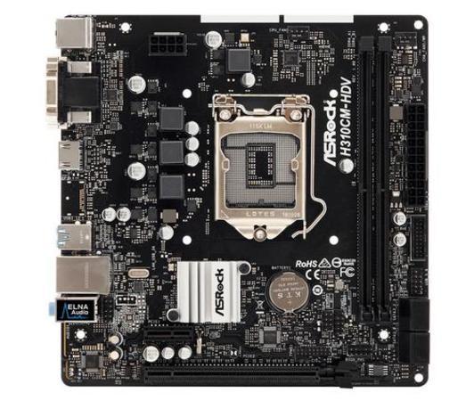 ASROCK MB H310CM-HDV (intel 1151v2 coffee lake, 2x DDR4 2666, GLAN, SATA3, USB3.0, VGA +DVI+HDMI, mATX) pro intel coffe lake