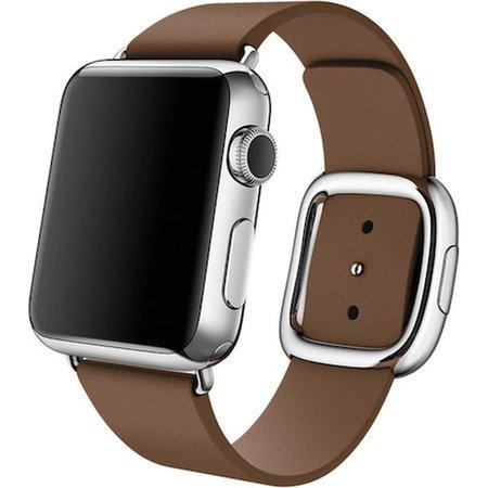 Apple Watch řemínek s moderní přezkou 38mm S hnědý
