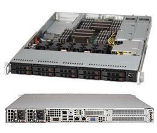 "SUPERMICRO 1U chassis 10x 2,5"" HS SAS3/SATA3 (8xSAS3/2xNVMe), 2x700/750W, WIO, X11, CSE-116AC2-R706WB2"