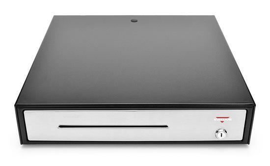 Virtuos pokladní zásuvka C430B-RJ10P10C, 12V/24V, s kabelem 24V, kovové držáky bankovek, nerez. pane