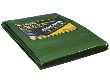 PROTECO 10.88-P100-10-15 - plachta zesílená nepromokavá s oky zelená 100g/m²10x15 m