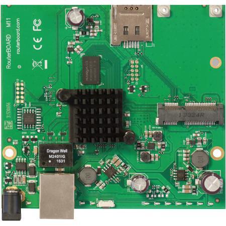 MikroTik RouterBOARD RBM11G 256MB RAM, 2x 880 MHz, 1x miniPCI-e, 1x SIM slot, 1x LAN, L4, RBM11G