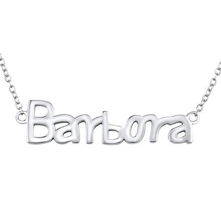 Silvego Stříbrný řetízek se jménem Barbora JJJ1859-BARB