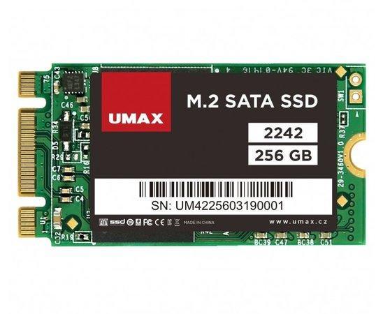 UMAX SSD 256GB/ interní/ M.2/ 2242/ SATAIII/ 3D TLC