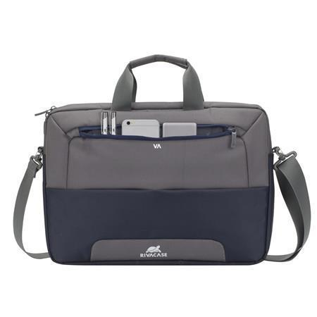 "Taška na notebook ""Suzuka 7737"", ocelově modrá - šedá, 15,6"", RIVACASE, 4260403574690"