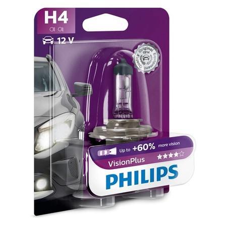 Philips Vision Plus 12342VPB1 H4 P43t-38 12V 60/55W