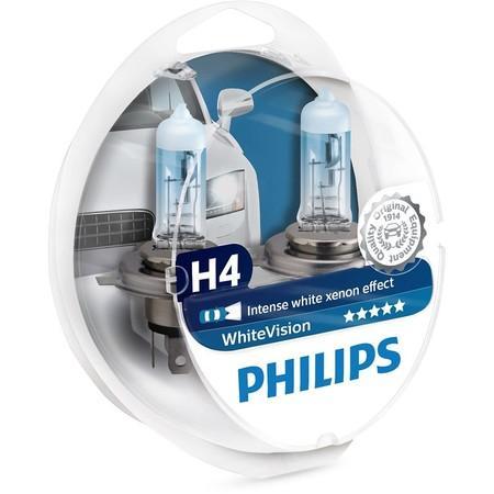 Philips WhiteVision 12342WHVSM H4 P43t-38 12V 60/55W