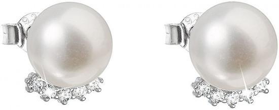 Evolution Group Stříbrné náušnice pecky s pravými perlami Pavona 21020.1