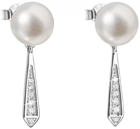 Evolution Group Stříbrné náušnice s pravými perlami Pavona 21036.1