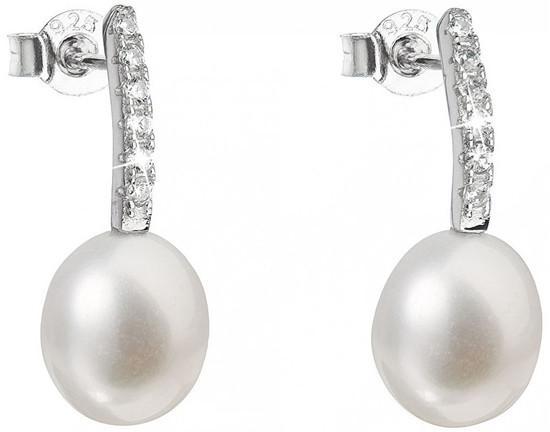 Evolution Group Stříbrné náušnice s pravými perlami Pavona 21034.1