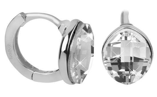Evolution Group Stříbrné náušnice s krystaly Swarovski 31261.1