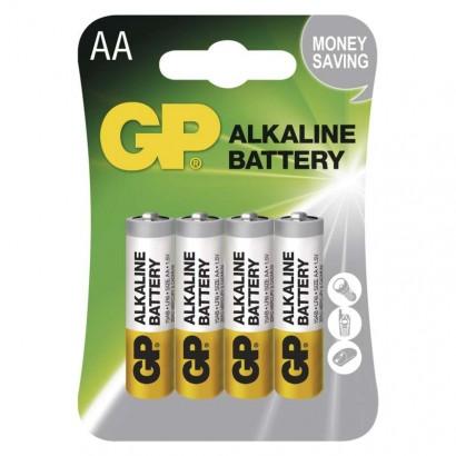 Alkalická baterie GP Alkaline LR6 (AA) (4 ks)