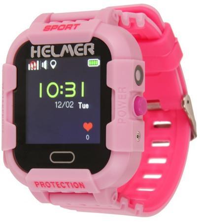 HELMER Chytré dotykové hodinky s GPS lokátorem a fotoaparátem - LK 708 růžové