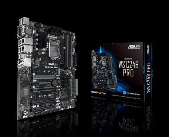 ASUS WS C246 PRO, Intel® LGA1151 ATX, 4 x PCIe 3.0 x16 slots, dual M.2, USB 3.1 Gen2 connectors, 90SW00G0-M0EAY0