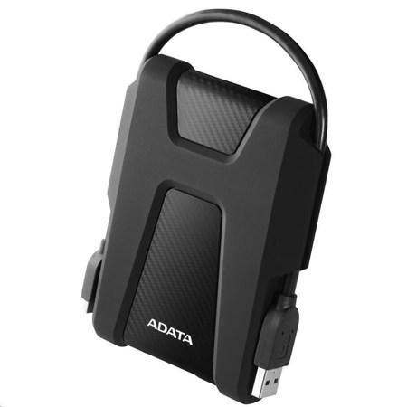 """ADATA Externí HDD 1TB 2,5"""" USB 3.1 AHD680, černý (gumový, nárazu odolný), AHD680-1TU31-CBK"""