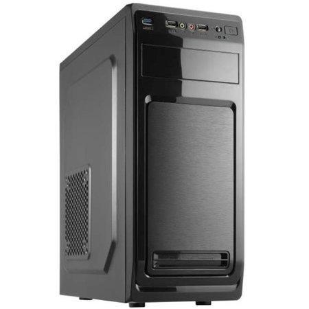 CRONO skříň MT-740i MidiTower bez zdroje, black