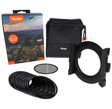 Rollei držák filtrů Rollei F:X Pro Filter Holder Kit 100mm / adap. kroužek 82mm / polarizační filtr 86mm / adaptér 52