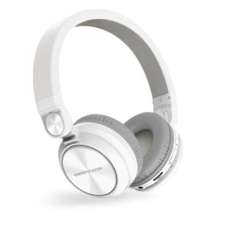 ENERGY Headphones BT Urban 2 Radio White, Bluetooth sluchátka s vestavěným FM rádiem a microSD MP3 p