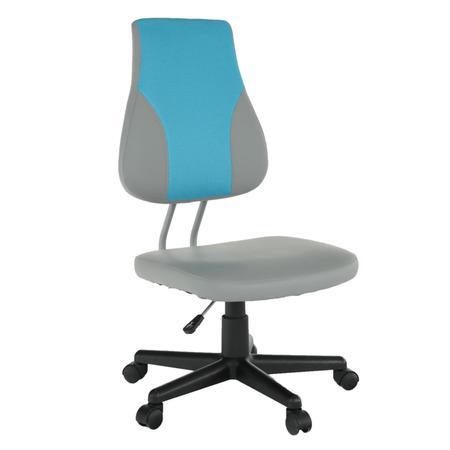 Tempo Kondela Otočná rostoucí židle, šedá / modrá, RANDAL