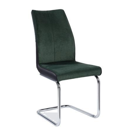 Tempo Kondela Jídelní židle, smaragdová / černá, FARULA